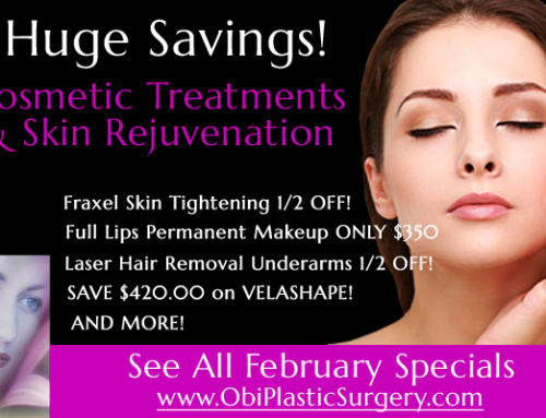 Skin Rejuvenation & Cosmetic Treatment Specials in February!