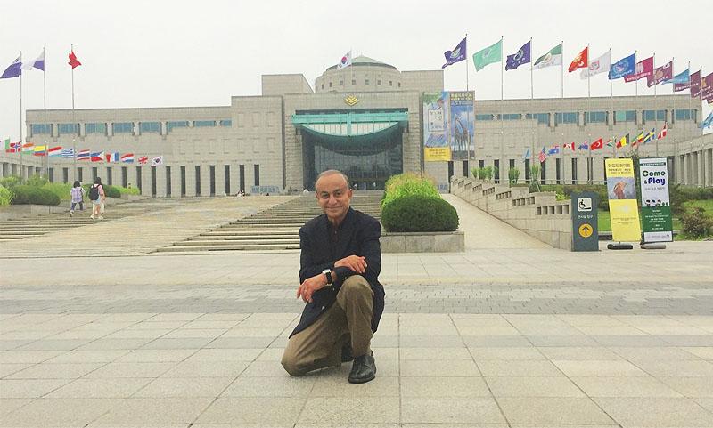 Dr. Obi Visits Korean War Memorial