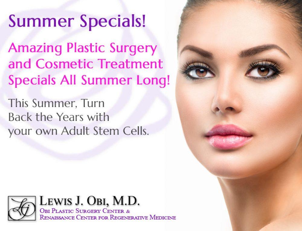 Summer Specials at Obi Plastic Surgery